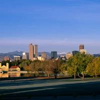 Fall Morning Denver Skyline Panoramic Art Prints & Posters by Santomarco Photography