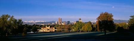 Fall Morning Denver Skyline Panoramic