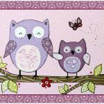 """Lavender Woods Series - Owls"" by Littlepig"