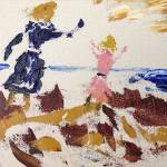"""Sisters playing in the sand dunes copy"" by ArtRoger"