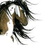"""Majestic Pinto Horses 159"" by AmyLynBihrle"