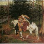 """La Belle Dame Sans Merci (1865)"" by ArtLoversOnline"