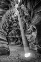 Antelope Canyon Light in BW