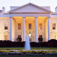 Washington DC, White House at twilight Art Prints & Posters by Panoramic Images