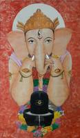 Ganesha With Shivling