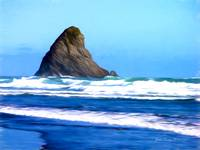 Lion Rock Piha Beach