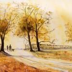 """A Walk at Sunrise"" by ArtCaravan"