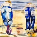 """""""The Crab Catchers"""" by ArtCaravan"""