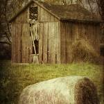 """Rustic Old Barn and Hay Bale"" by SoulfulPhotos"