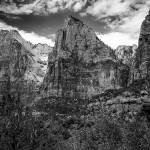 """Zion Peaks black and white"" by memoriesoflove"