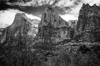 Zion Peaks black and white