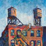 Two Water Towers New York City by RD Riccoboni