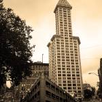 """""""Seattle - Pioneer Square Tower"""" by Ffooter"""