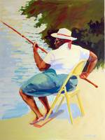 Davie Woman Fishing