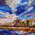 """Charleston South Carolina Battery Oil Painting"" by GinetteCallaway"