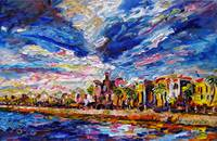 Charleston South Carolina Battery Oil Painting