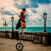 The Unicyclist Art Prints & Posters by Chris Lord
