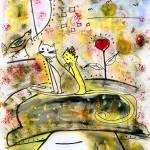"""A strange walk of the cats"" by CatalinaLira"
