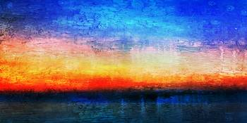 15a Abstract Seascape Sunrise Painting Digital