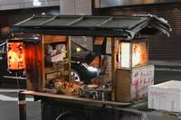 Traditional Japanese Ramen Shop Cart in Tokyo