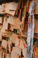 Ema Wooden Lucky Tablets Hanging at a Shrine