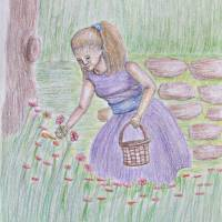 flower girl Art Prints & Posters by thuraya o