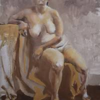 Vaccaro_Seated Nude_Oils_24