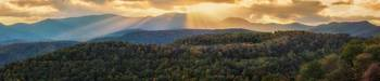 Fall Foliage Sunset Over The Appalachian Mountains