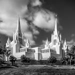 """San Diego Temple in Black and White"" by dbwalton"