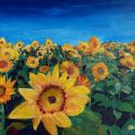 """Beautiful_Morning_At_Sunflower_Fieldskl"" by arthop77"