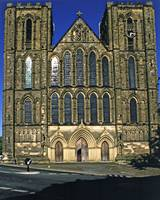 West Front, Ripon Cathedral, late evening
