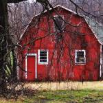 """Abandoned barn in red"" by Anewsgal"