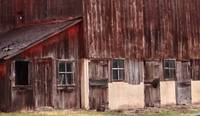Details of a brown barn