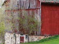 Rural red and fieldstone