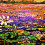 """Evening Sun over Lotus Pond"" by GinetteCallaway"