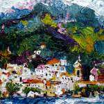 """Impression of Amalfi Italy Oil Painting"" by GinetteCallaway"