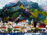 Impression of Amalfi Italy Oil Painting