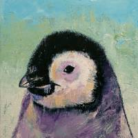 Penguin Chick Art Prints & Posters by Michael Creese