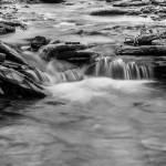 """Conklin Gully Single Cascade in B&W"" by dbwalton"