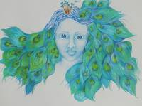 Blue Peacock Girl I