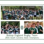 """Bishop England Rugby Champions Poster"" by FluidColor"