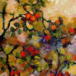 """Rosehips Impressionist Oil Painting"" by GinetteCallaway"