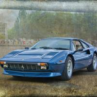 Blue Ferrari 308 GTB Art Prints & Posters by Stuart Row