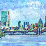 """Boston Massachusetts Charles River - Back Bay"" by BeaconArtWorksCorporation"