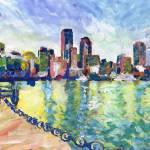 Boston Ma Boston Harbor Harvard Yard 2016 by RD Riccoboni