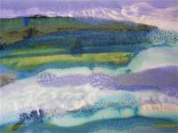 29. Rectangle Purple Blue Landscape Abstract