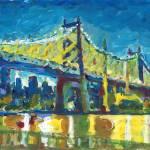 New York Queensboro Bridge at Night by RD Riccoboni