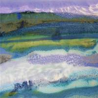 29. v1 Square Purple Blue Landscape Abstract