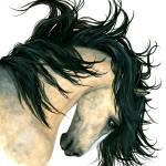 """""""Majestic Buckskin Horse"""" by AmyLynBihrle"""