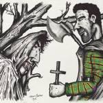 """""""Vampire Encounter"""" by cartoonartstudios"""